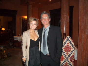 db Media founder, Dianna Bari with Kurt Russell at pre-event for Cairo International Film Festival in Egypt