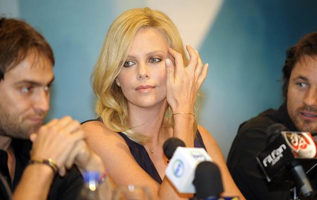 Charlize Theron with Stuart Townsend and Martin Henderson at Cairo International Film Festival – booked by db Media