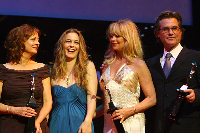 Susan Sarandon and Alicia Silverstone with Goldie Hawn and Kurt Russell at Cairo International Film Festival – booked by db Media